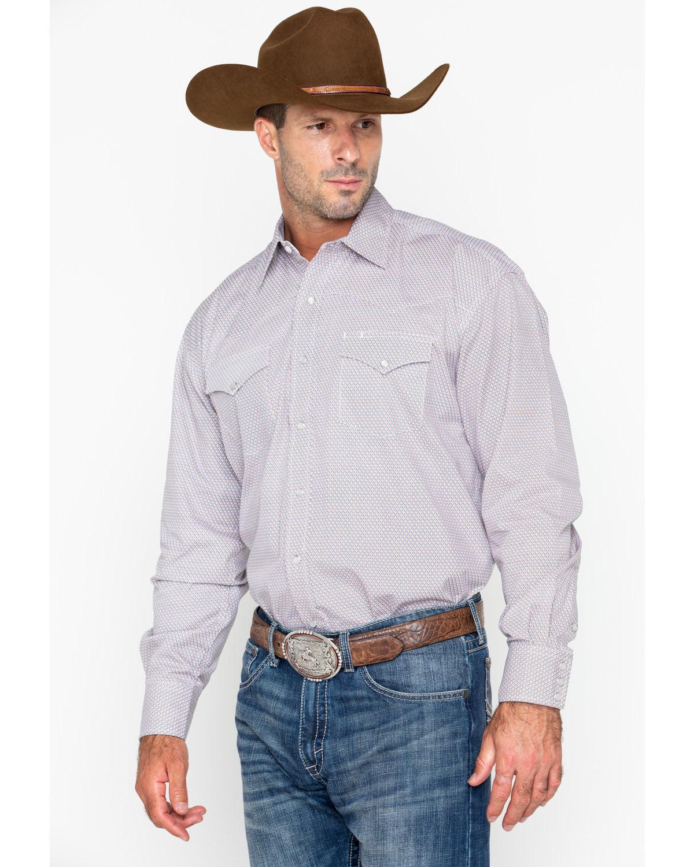 Roper Men's Small Plaid Long Sleeve Western Shirt - 11-001-0425-0279