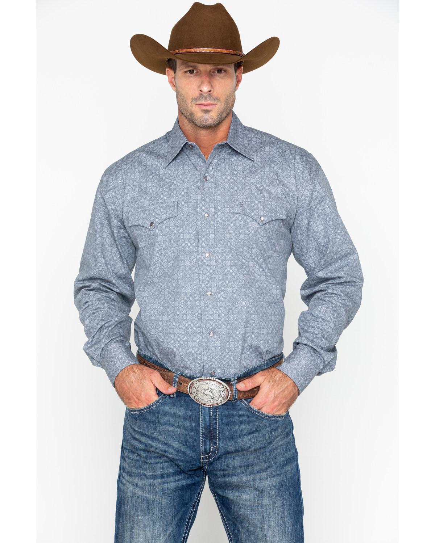 Roper Men's Grey Floral Print Long Sleeve Western Shirt - 11-001-0425-0278