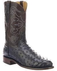 Men's Handmade Full Quill Ostrich Cowboy Boots