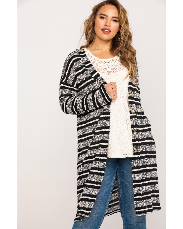 f8d9f37c6 Eyeshadow Women s Striped Sweater - Plus - B72872CDWJ-PLUS Duster ...