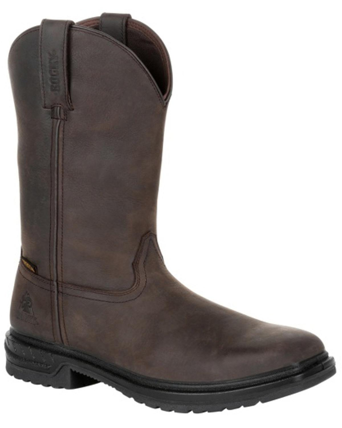 Rocky para hombre Worksmart Impermeable Bota De Trabajo occidental-Composite Toe-RKW0276