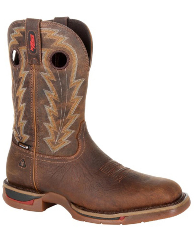 Rocky Larga para Hombre Impermeable Bota-Cuadrado Range Toe-RKW0278