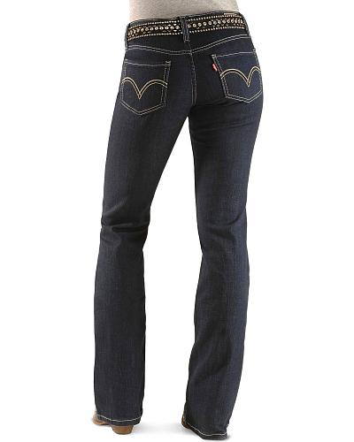 136e51e9 Levis 518 Jeans Simply Blue Juniors Western & Country 11518-0072