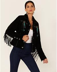 Women's Fringe Leather Jackets