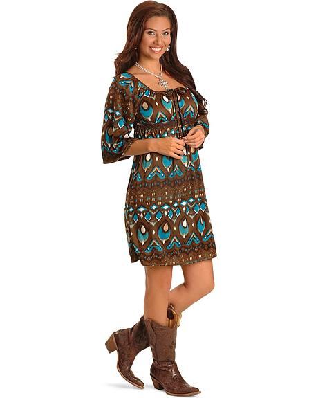 Ru Cowgirl Ikat Dress Sheplers